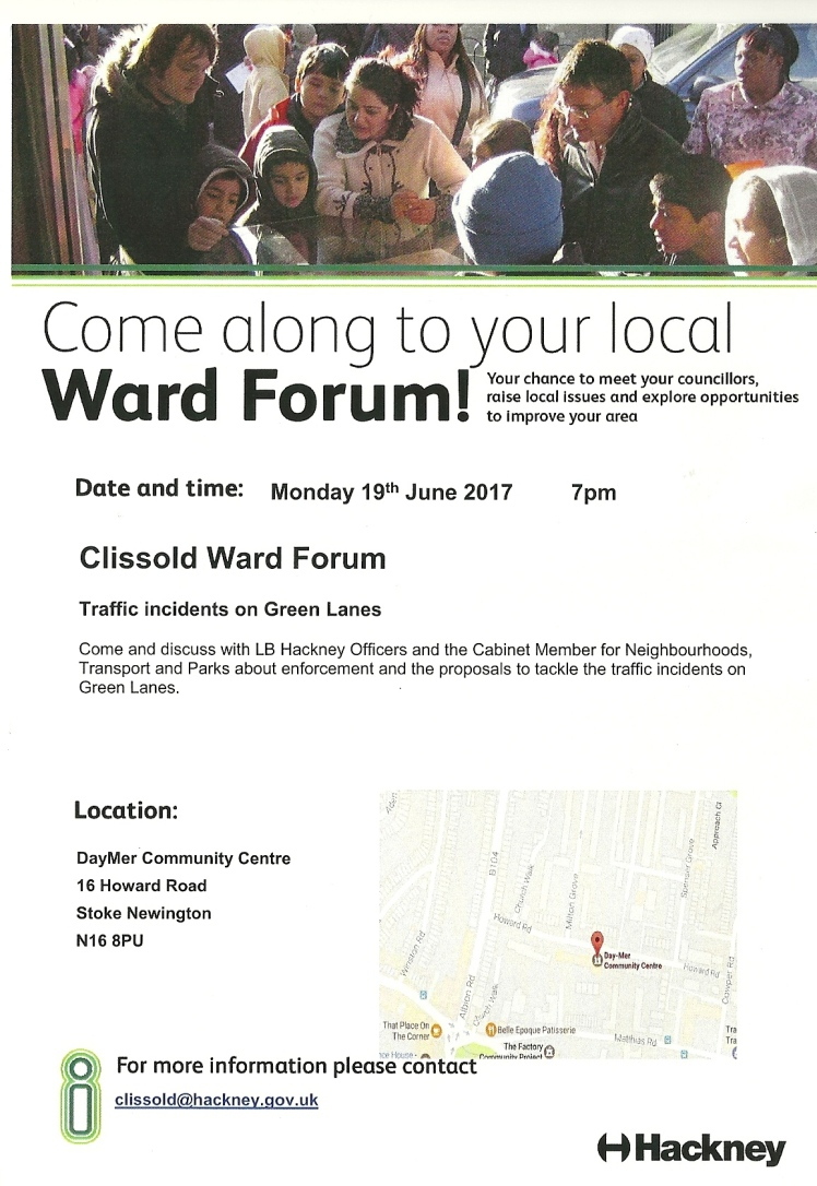 Clissold Ward Forum Monday 19 June